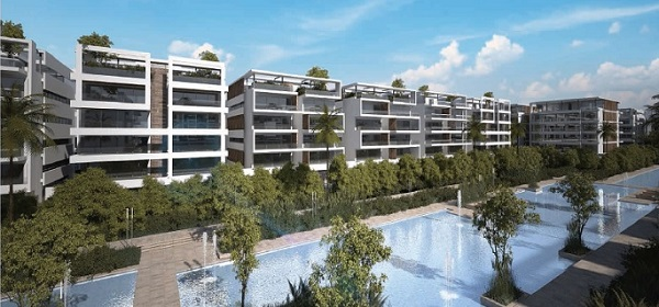 Apartment with garden 90 m in lake view residence for resale