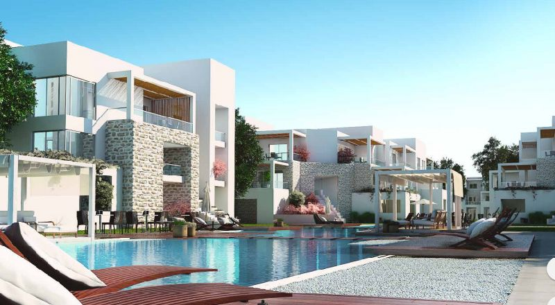 Chalet fully finished with lagoon view in Azha village in ain sokhna