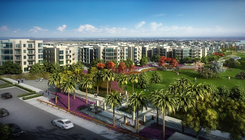 Flat on landscape view resale with installments in Taj City