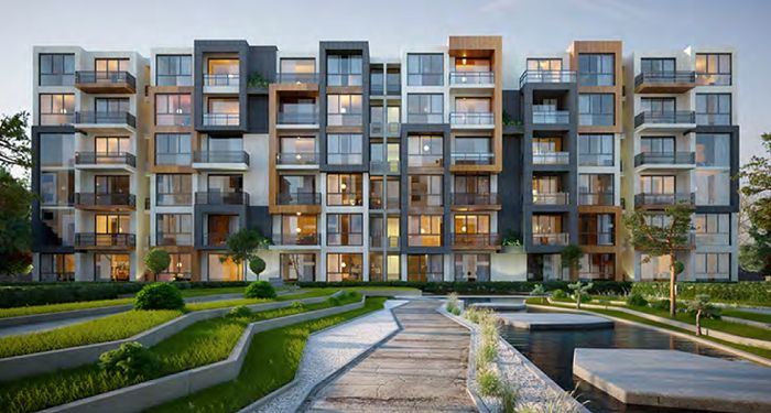 Apartments fully finished for sale with installments in compound Aria